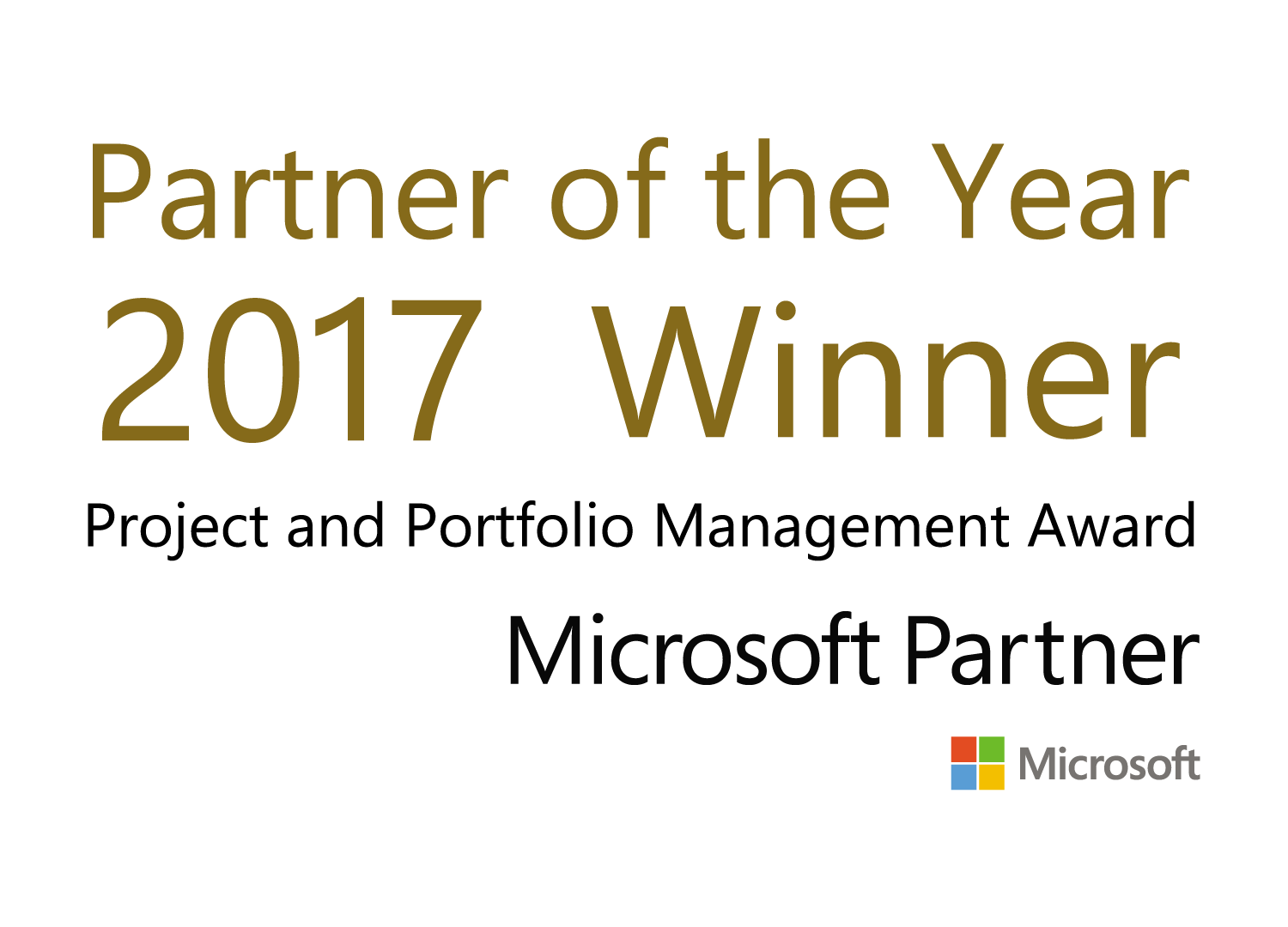 Microsoft Partner of the year Winner 2017