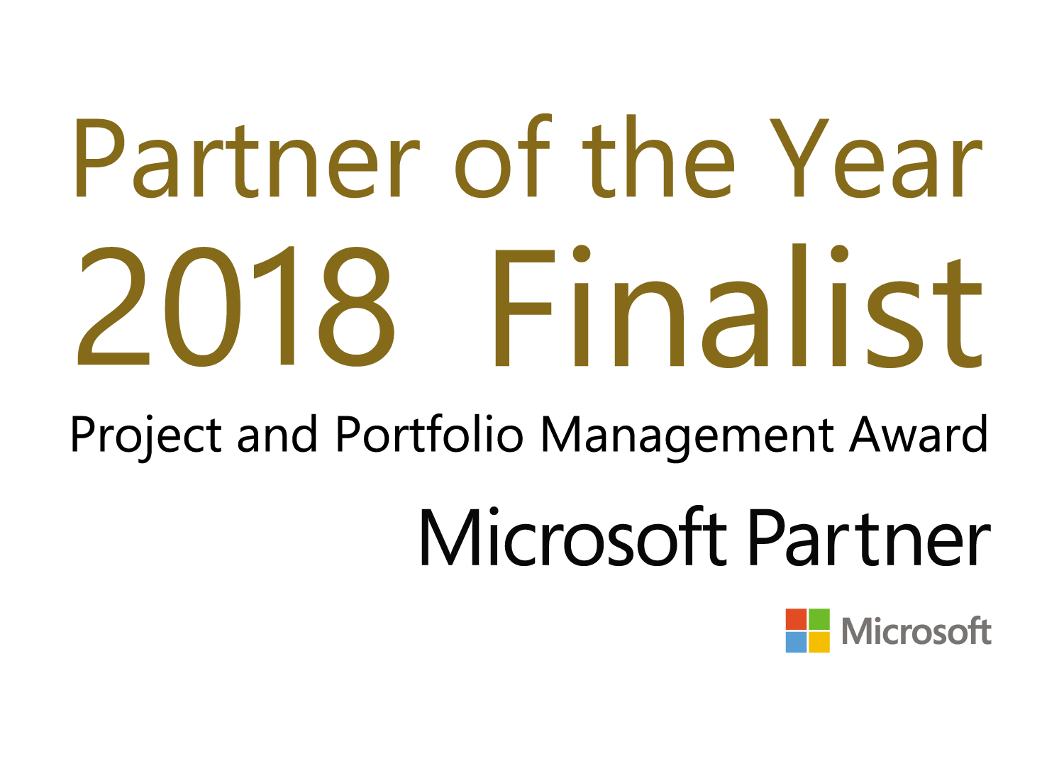 Microsoft Partner of the year Finalist 2018