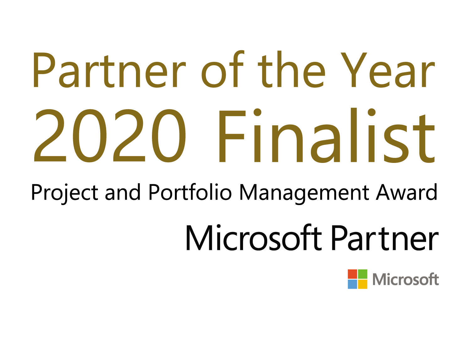 Microsoft Partner of the year Finalist 2020