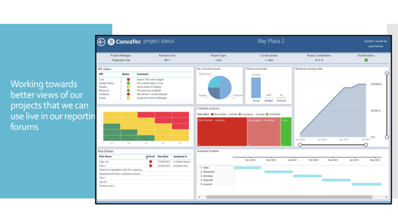 A Power BI example from Convatec solution