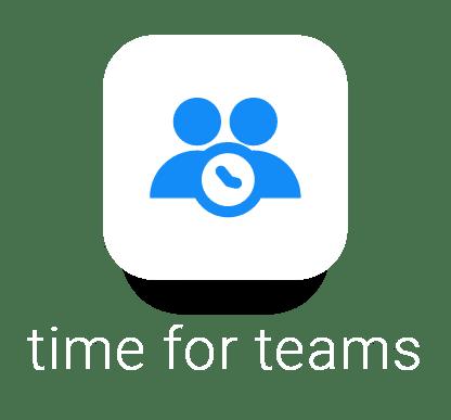 time for teams logo white